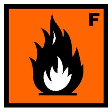 Simbol sangat mudah terbakar