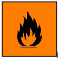 simbol mudah terbakar