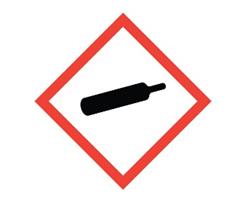 Simbol Gas di Bawah Tekanan